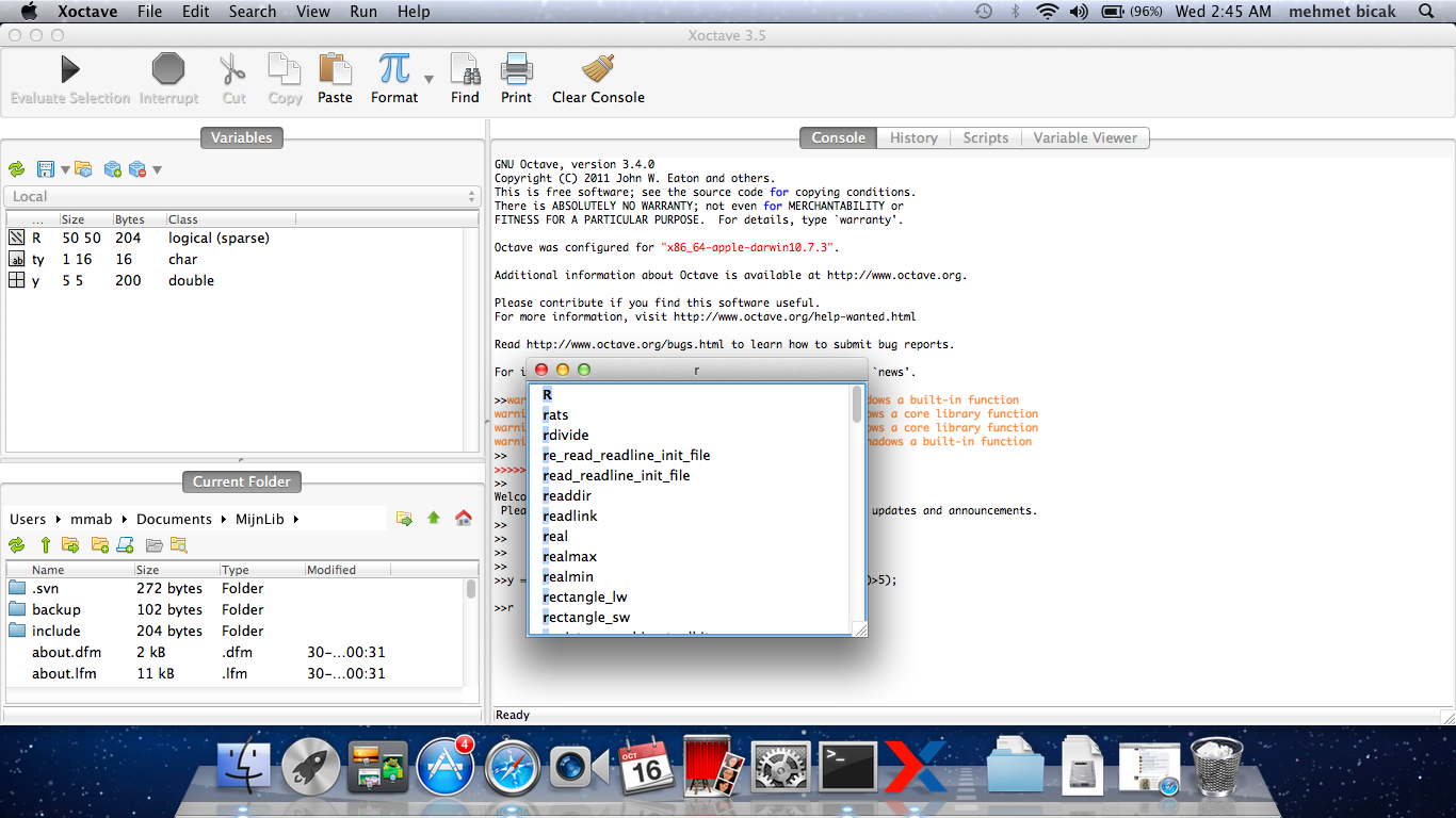 xoctave octave gui on apple mac
